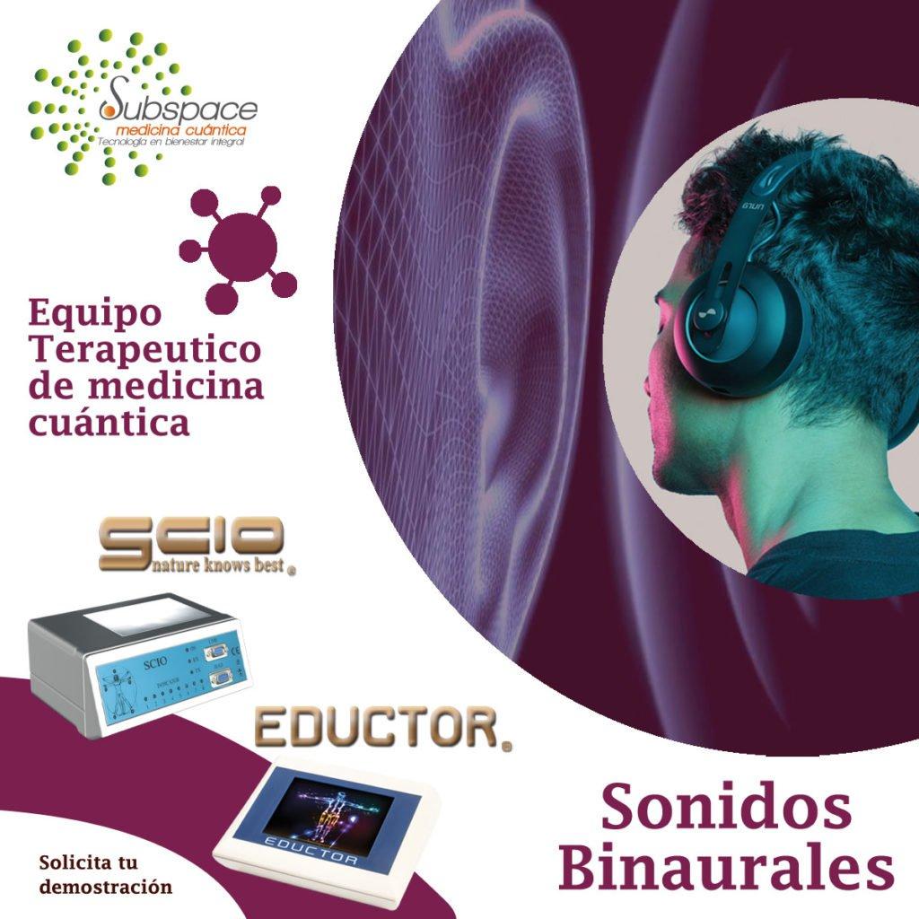 equipo terapeutico de sonido binaurales, Equipo terapeutico biofeedback, Quantum balance, medicina cuántica, SCIO y EDUCTOR